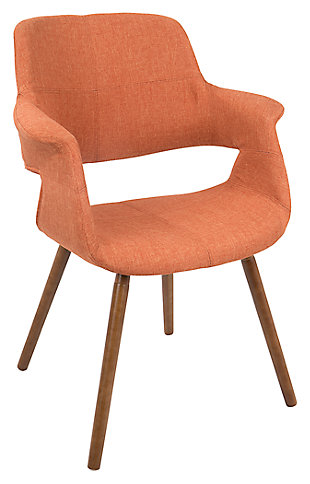 Vintage Flair Accent Chair, Orange, large