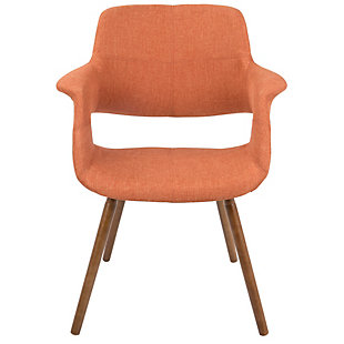 Vintage Flair Accent Chair, Orange, rollover