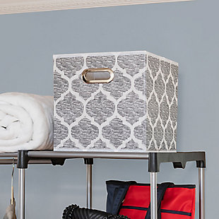 Home Basics Arabesque Collapsible Storage Cube, , rollover