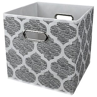 Home Basics Arabesque Collapsible Storage Cube, , large