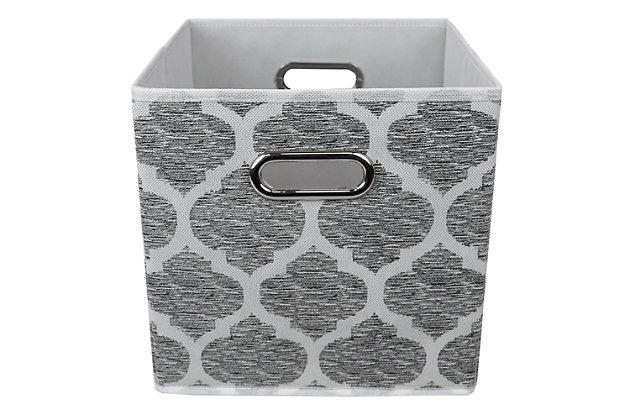 Home Basics Arabesque Collapsible Storage Cube, , large