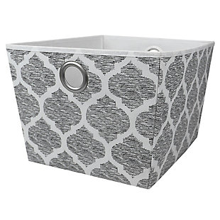 Home Basics Arabesque Large Open Storage Tote, , large