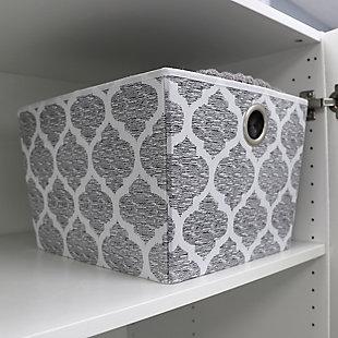 Home Basics Arabesque Large Open Storage Tote, , large