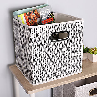 Home Basics Fern Collapsible Storage Cube with Handle, , rollover