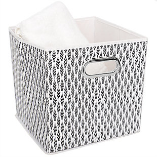 Home Basics Fern Collapsible Storage Cube with Handle, , large