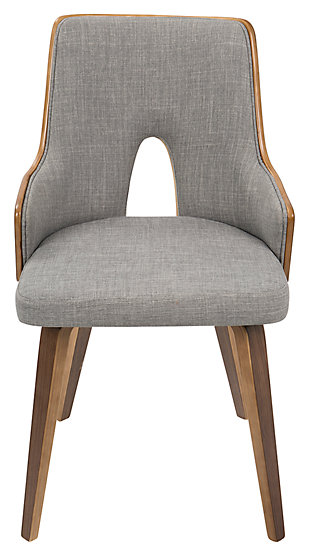 George Accent Chair (Set of 2), Gray, large