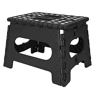 Home Basics Medium Plastic Folding Stool with Non-Slip Dots, , large