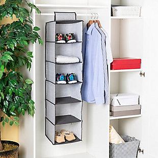 Home Basics Herringbone 6 Shelf Closet Organizer, , rollover