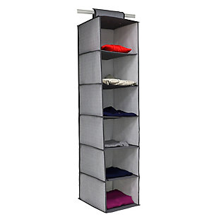 Home Basics Herringbone 6 Shelf Closet Organizer, , large