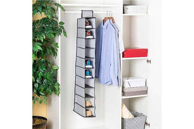 Home Basics Herringbone 10 Shelf Closet Organizer, , large
