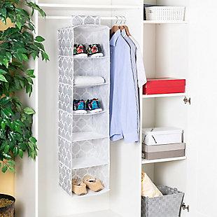Home Basics Arabesque 6 Shelf Hanging Closet Organizer, , rollover