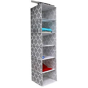 Home Basics Arabesque 6 Shelf Hanging Closet Organizer, , large