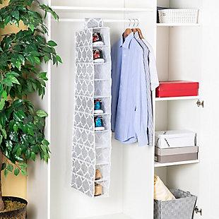 Home Basics Arabesque 10  Shelf Hanging Closet Organizer, , rollover