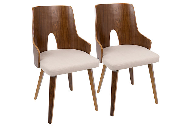 Lumisource Accent Chair (Set of 2), Beige, large