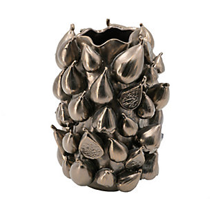 Metallic Bronze Medium Ceramic Vase, , rollover