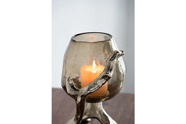 Gold Pillar Candle Holder, , large