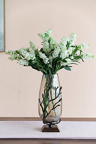 Antique Nickel Twig Vase, , rollover