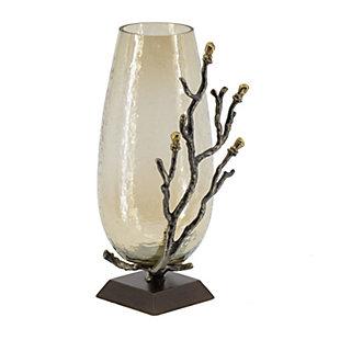 Antique Nickel Twig Vase, , large