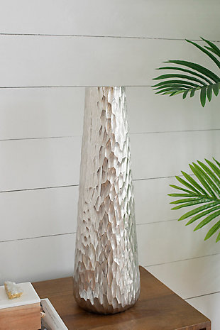 Diamond Texture Oblong Large Vase, , rollover