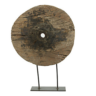 Decorative Large Cart Wheel on Stand, , rollover