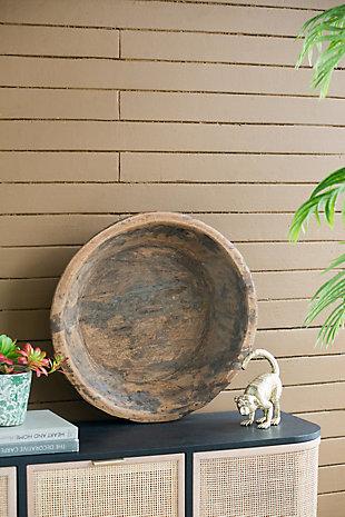 Antique Wooden Large Round Parrat, , rollover
