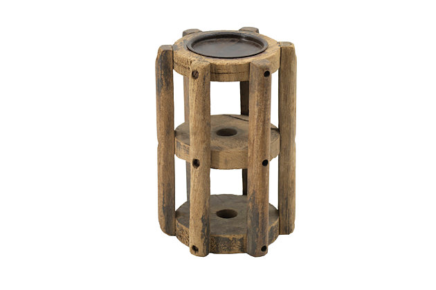 Wooden Loom Candle Stand, , large