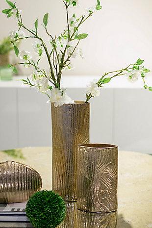 Aluminum Timber Eye Large Vase, , rollover