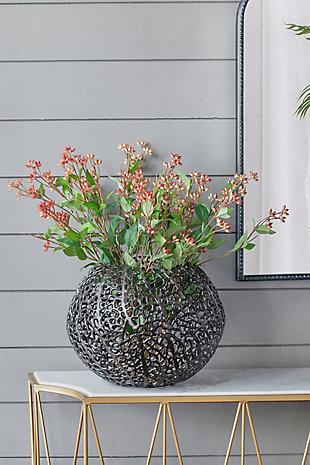 Aluminum Coral Round Ball Vase, , rollover