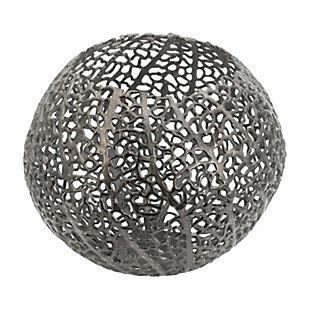 Aluminum Coral Round Ball Vase, , large