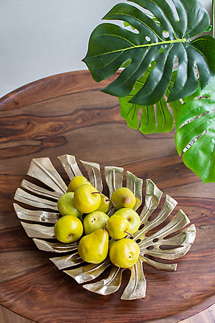 Aluminum Wall Leaf Hanging Small Bowl, , rollover