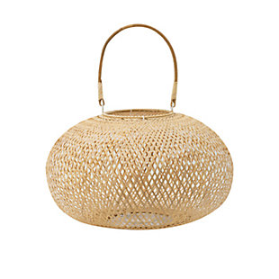 Medium Natural Bamboo Lantern, , large