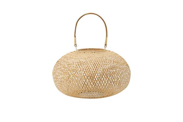 Medium Natural Bamboo Lantern, , large