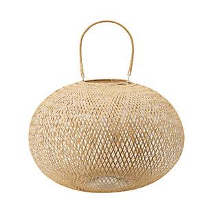 Large Natural Bamboo Lantern, , large