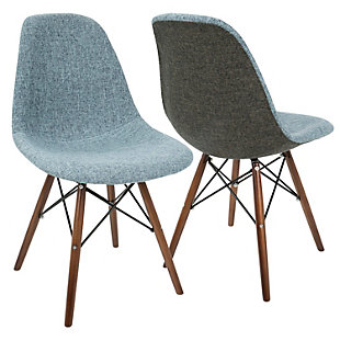 Lumisource Accent Chair (Set of 2), Gray, rollover