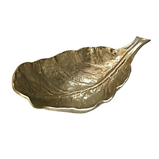 Gold Aluminum Leaf Decorative Bowl, , large