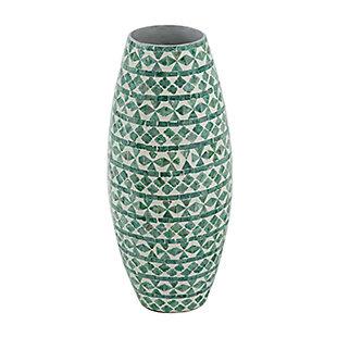Tall Green Capiz Vase, , large