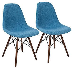 Lumisource Accent Chair (Set of 2), Blue, large