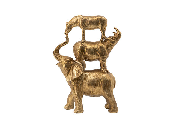 Stacking Animals Decorative Statue, , large
