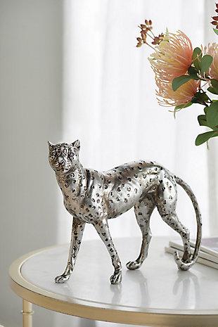 Standing Leopard Decorative Statue, , rollover