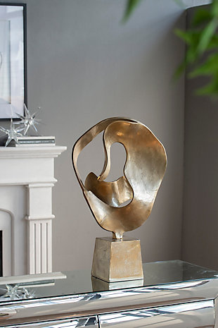Abstract Gold Decorative Sculpture, , rollover