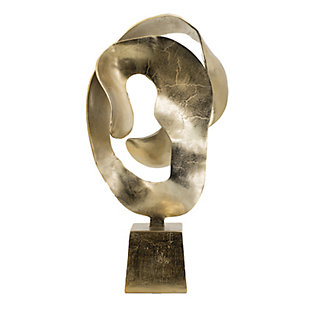 Abstract Gold Decorative Sculpture, , large