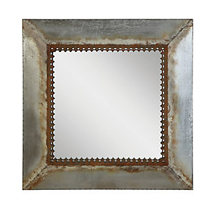 Creative Co-Op Square Metal Framed Mirror, , large
