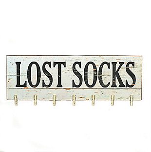 """Creative Co-Op """"Lost Socks"""" Wall Memo Board with 7 Clothespins, , large"""