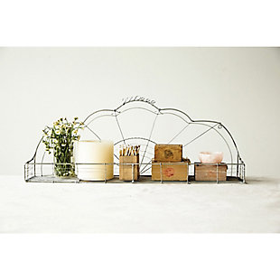 Creative Co-Op Hand Made Metal Wire Wall Shelf, , rollover