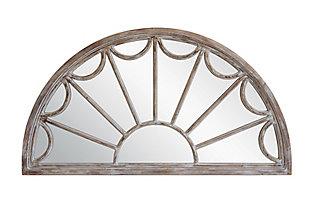 Creative Co-Op Half Circle Decorative Wood Mirror, , rollover