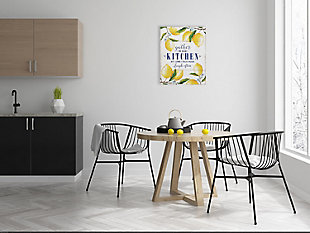 "Creative Co-Op ""Gather in Our Kitchen…"" Wood Wall Decor with Lemons, , rollover"