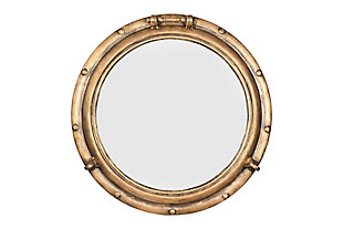 """Creative Co-Op 22"""" Round Distressed Metal Porthole Mirror, , large"""