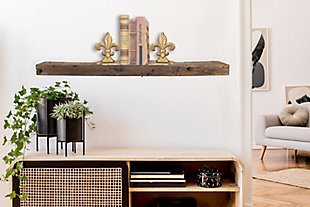 Creative Co-Op Reclaimed Wood Floating Wall Shelf, , rollover