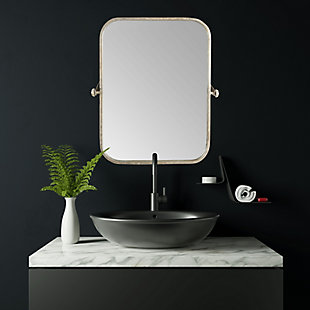 Creative Co-Op Metal Framed Pivoting Wall Mirror, , rollover