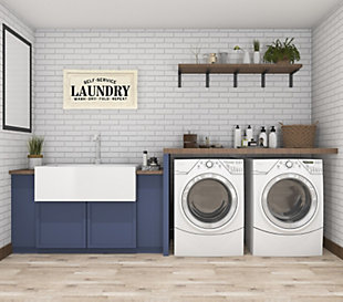 "Creative Co-Op ""Laundry"" Wooden Plaque, , rollover"